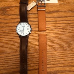 Fossil Wristwatch and Brand New Extra Band Blue